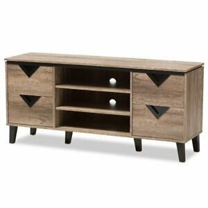 Baxton Studio Beacon 55 Wood Tv Stand