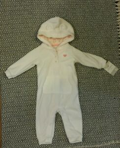 cbaee06e505d NWT! Carter s Baby One Piece Jumpsuit - White Fleece - 6 months ...