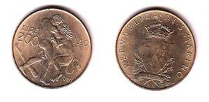 1979 San Marino Lire 200 Fao Fior Di Conio Unc Qyxbd0yj-08004525-611402561