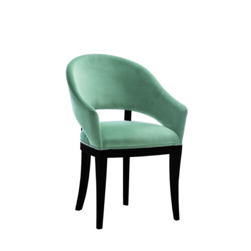 Luxury Design Upholstered Chair Chairs Seat Sit Office Office Dining Wood KU2 NEW