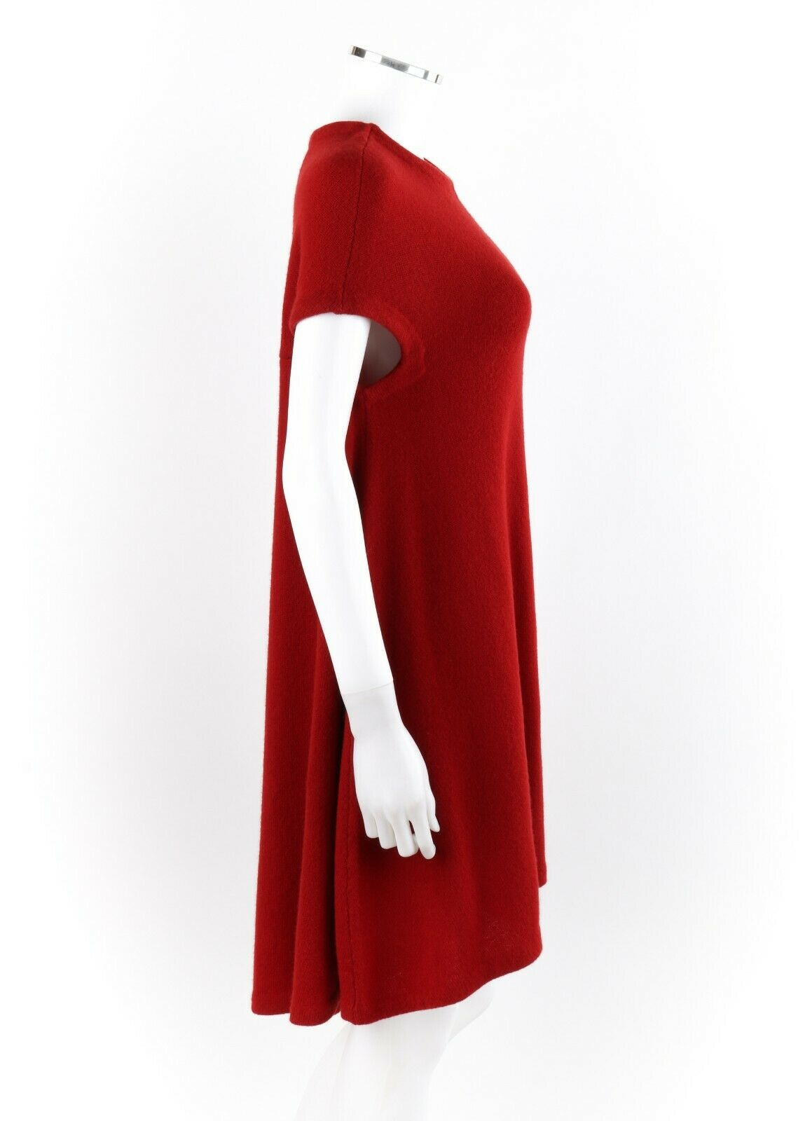 BALENCIAGA Ruby Red Knit High Low Cap Sleeve Mini… - image 2