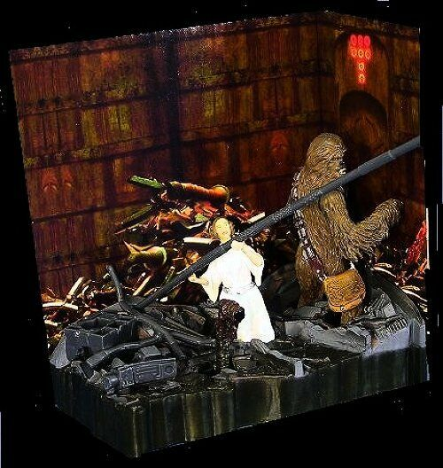 Hasbro Leia and Chewbacca Death Star Trash Compactor A New Hope Wars