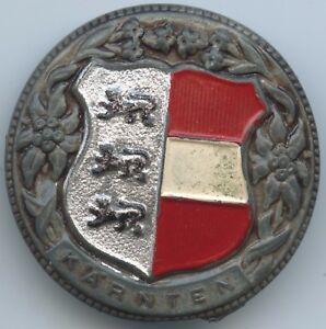 """Altes Abzeichen """"kärnten Wappen"""" Brosche Anstecker Coloriert Heller Glanz Volkskunst Trachten & Accessoires GüNstig Einkaufen A842"""