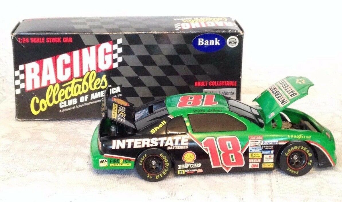 NASCAR BOBBY LABONTE 1 24 SCALE SCALE SCALE CAR BANK INTERSTATE BATTERIES 1996 LIMITED 4d618c