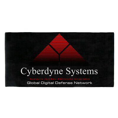 HUGE Terminator CYBERDYNE SYSTEMS Bath Towel Technoir Movie Film Poster Skynet