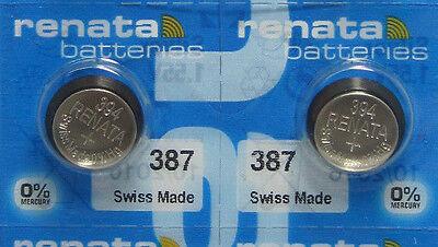 Renata 4 Silver Oxide 394 Zero Mercury Electronic Batteries