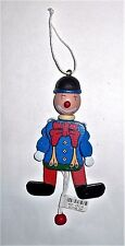 VINTAGE CHRISTMAS WOODEN FAMO PULL STRING CLOWN TREE ORNAMENT GERMANY CUTE