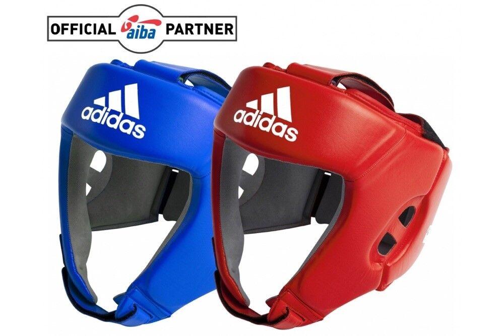 Adidas Aiba Lizensiert Kopfschutz Guard Boxen Offiziell Öffenes Gesicht Schutz