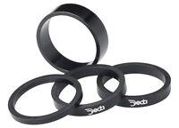 Deda Alloy Headset Spacers Black W/ White Logo 1 1/8 X 10mm (4-pack) Aluminum