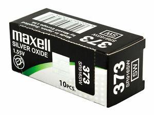 10 x Maxell 315 Pile Batterie Scatola Mercury Free Silver Oxide SR716SW 1.55V