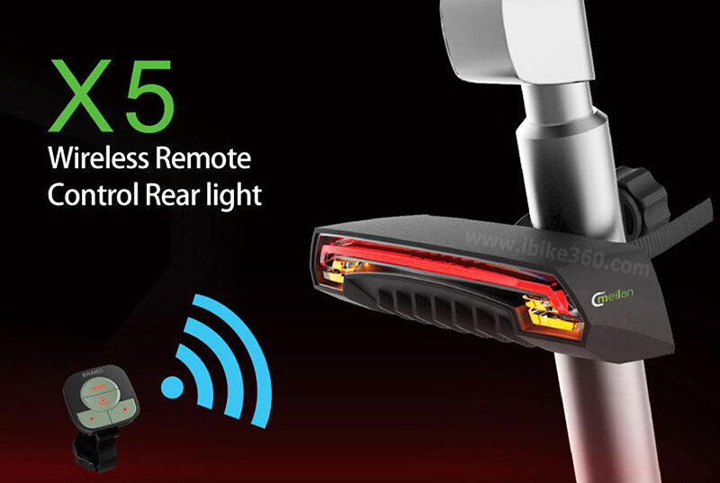 USB Rechargeable LED Bike Tail Light with Remote  Control Turn Signal and Laser  large selection