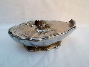 Ancien Sauciére Ou Coupe à Caviar Forme Huitre Coquille M.gouaille Art Nouveau