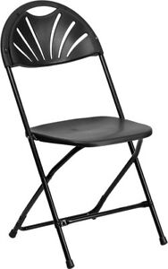 Image Is Loading 16 Commercial Black Plastic Folding Chairs Stackable Party