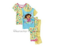 Dora The Explorer Girls 12 24 Months 3t Pajamas Pjs Shirt Pants Toddler Baby