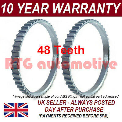 2X FOR PEUGEOT 206 48 TOOTH 90MM ABS RELUCTOR RING DRIVESHAFT CV JOINT AR1106