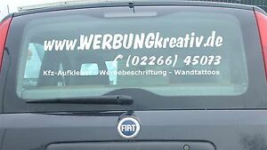 autocollants de vitre arri re pour voiture publicit camion automobile sticker ebay. Black Bedroom Furniture Sets. Home Design Ideas