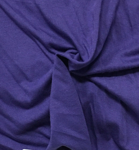 Bamboo Cotton Jersey Knit Fabric Eco Friendly 8 Oz High End Purple