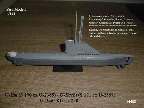 S 171 U-Hai 1//144 Bird Models Resinbausatz // resin kit S 170 // U-Hecht