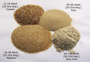 Crushed Glass Abrasive Sand Blasting Media 40 To 60 Mesh