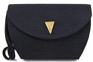 Authentic-Yves-Saint-Laurent-Shoulder-Bag-Black-Nylon-244111