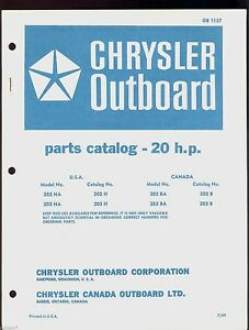 1969 chrysler 20hp outboard motor parts manual ob 1157 ebay Mariner Outboard Parts Diagram image is loading 1969 chrysler 20hp outboard motor parts manual ob