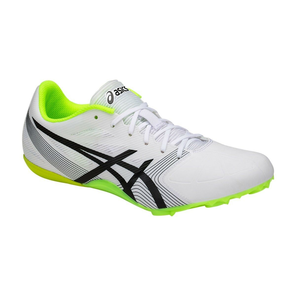 Asics HYPERSPRINT 6 Men's G500Y.0190 White Black Yellow Track Field shoes