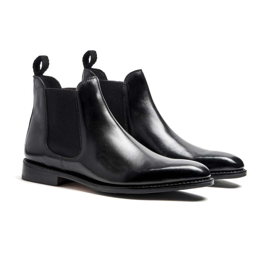 Timberlux New York Men's nero Chelsea Calfskin Leather stivali TLCCLBLK1