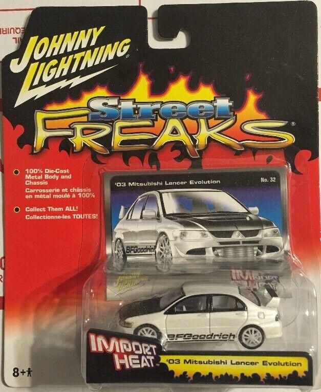 Johnny Lightning White Lightning 03 Mitsubishi Lancer Evolution Import Heat