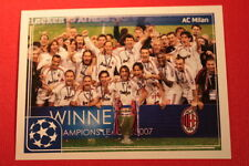 PANINI CHAMPIONS LEAGUE 2011/12 N 556 MILAN VICTORY WITH BLACK BACK MINT!!