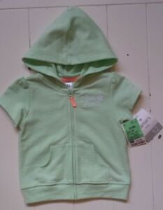 ad8ba37f94ae Carter s NWT mint green short sleeve zip front hooded jacket girls ...