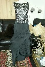 Karen Millen Black Long Fitted Evening Dress  Size 14