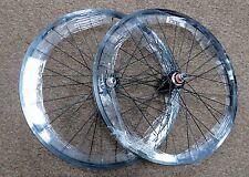 20 in 20 x 1 1/8 BMX Racing Bike Wheels Wheelset Sealed Flip Flop Hub Black