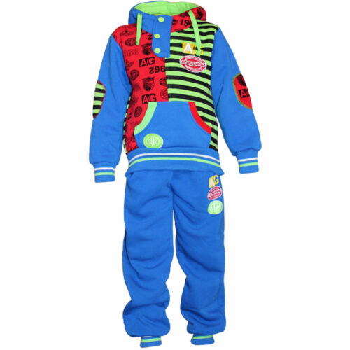 Infants Toddlers Hoodie Top Set Kids Sweatsuit Boys Printed Polyester SweatPant