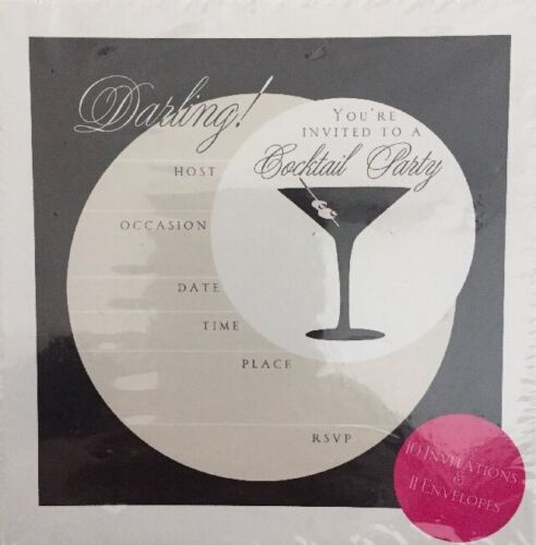 10 Cocktail Party Invitations & Envelopes Brand New Sealed Free Postage