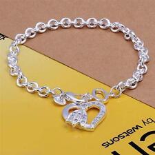 Damen Armband Herz mit Zirkonia Steinen 925 Sterling Silber plattiert Schmuck