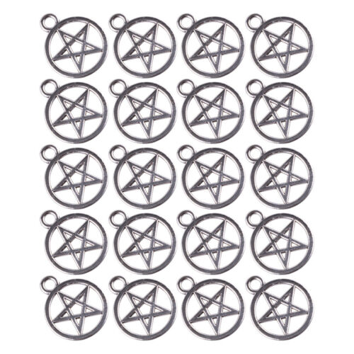 20 Pentagramm Anhänger Charms Amulette Antik Pentacle Kette Armband 20 x 16mm
