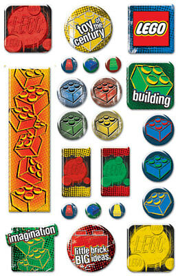 Creative Imaginations Scrapbook Stickers Epoxy Lego Classic