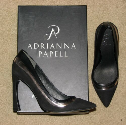 Gunmetal leather pumps shoes Women/'s Adrianna Papell Diandra Black