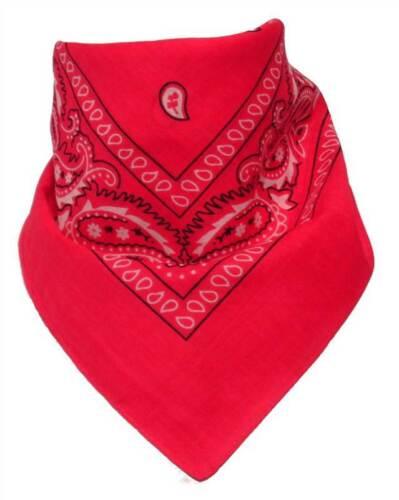 BANDANA Head scarf Neck scarf SCIARPA PAISLEY CAMOUFLAGE molti colori UK Venditore