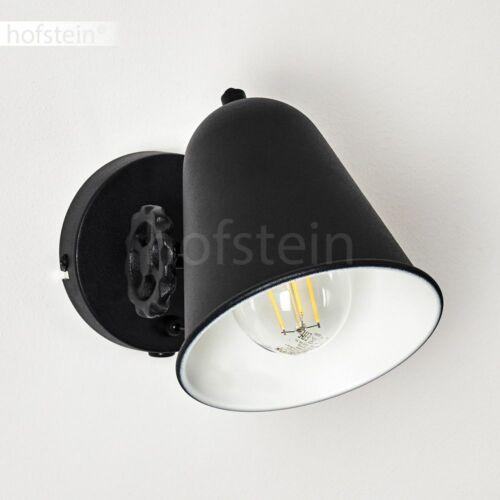 Wand Lampe Schalter Flur Strahler Vintage Schlaf Wohn Zimmer Beleuchtung schwarz
