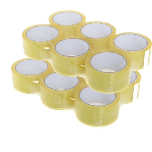 12 XRolls Of CLEAR STRONG Parcel Tape Packing sellotape Packaging 48mm x 66m NEW