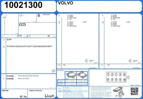 Full Engine Rebuild gasket set VOLVO 240 2.3 112//136 B230FT 1985//1995