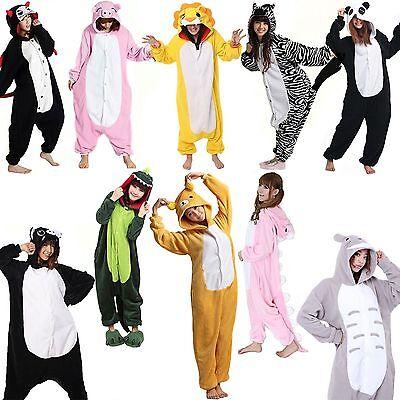 Kigurumi Pajamas Animal Cosplay Costume Adult Onesize Sleepwear Mahtcing Suit