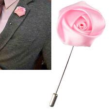 Bavero Fiore Camellia Boutonniere Stick Spilla Camicie Uomo Cravatta Tuta Rosa