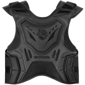 XLarge NEW Icon Stryker Motorcycle Vest Stealth Black Men/'s Size L//XL Large