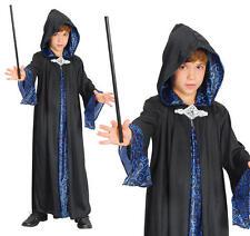 Childrens Wizard Robe Fancy Dress Magician Halloween Boys Kids Outfit M