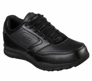 Skechers-Shoes-Women-Work-Black-Memory-Foam-Slip-Resistant-Electrical-Safe-77235