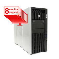 HP Z820 Multi 8-Monitor Computer/Desktop  6-core/1TB + 256GB SSD/ NVS 450/Win10