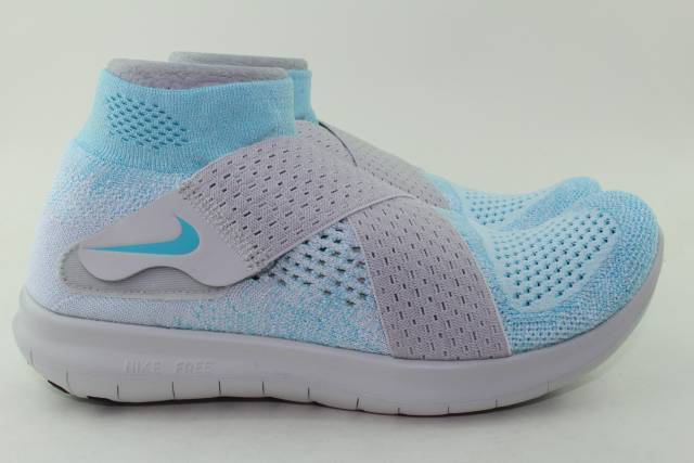NIKE FREE RN MOTION WOMAN FLYKNIT SIZE 7.0 WOMAN MOTION NEW AUTHENTIC GLACIER BLUE RARE a9ab4c