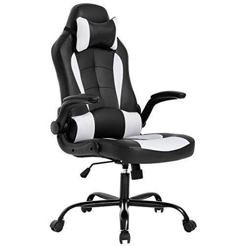 BestMassage OC-RC55 Office Desk Gaming Chair - White/Black